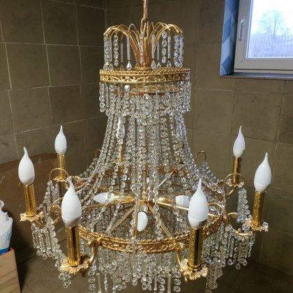 Реставрация люстр и светильников - lusturu un apgaismes restaurācija