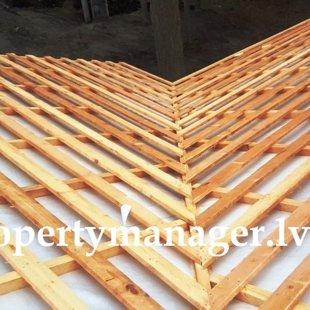 Установка и монтаж крыши